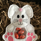 Easter treat bags, bunny, white, pink. Large,