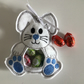 Easter gift bags, bunny, white. Blue.