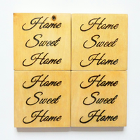 Wooden Home Sweet Home Coasters