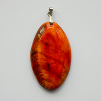 Beautiful Wooden Oval Pendant Necklace