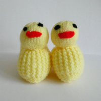 Handknitted Easter Chick Booties