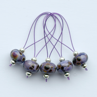 Lampwork Stitch Markers - Out of This World