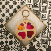 Heart Art Keyring 006