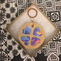 Heart Art Keyring 015