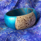 Boho Wooden Teal Bangle