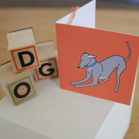 Italian greyhound gift tag - Birthday accessories
