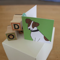 Jack Russell gift tag x 4 - Birthday accessories