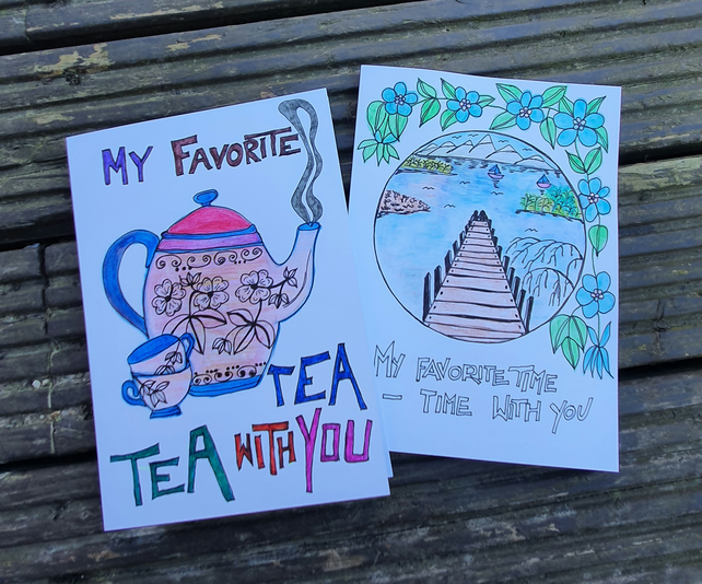 Series of cards titled - my favorite ...