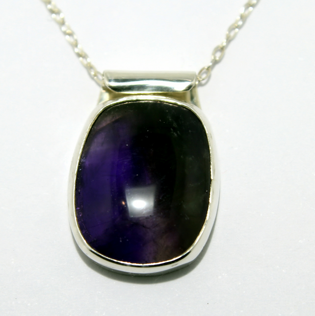 Classic Silver and Amethyst Pendant