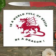 Dragon Glass Chopping Board, Personalised chopping board