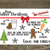 Personalised Christmas Eve Placemat, Dear Father Christmas Placemat
