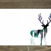 Woodland Stag Hardboard Placemats Set Of 6