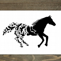 Horse In Flight Hardboard Placemat Set Of 6