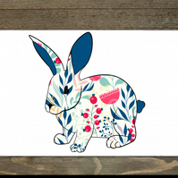 Rabbit Hardboard Placemats Set Of 6