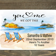 You & Me Printed Custom Hardboard Placemat, Glass Personalised Picture