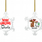 Personalised Christmas Bauble, Snowflake Personalised Christmas Decoration