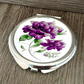 Peony Flower Personalized Compact Mirror, Round Compact Mirror, Pocket Mirror