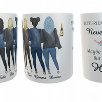 5 Best Friends Forever Mug, Custom Best Friend Mug, Best Friend Gift