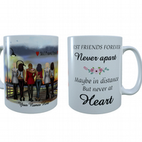 Best Friends New York Ceramic Mug, Gift for Best Friend, Best Friend Forever Mug