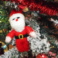Christmas Mini Santa - Handmade Christmas Decorations