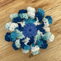 Women's blue flower barrette hair clip