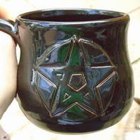 Pentacle Mug - Wheel thrown - Handmade - Ceramic