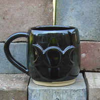 Triple Moon Coffee Mug - Handmade - Ceramic
