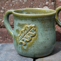 Oak Leaf Stoneware Mug - Wheel-thrown