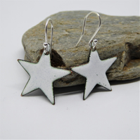 Star Earrings - Enamel on Copper