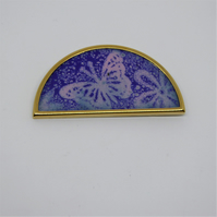Butterfly Brooch - Enamel on Copper