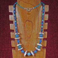 Volcanic Blues Necklace.
