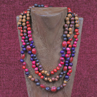 Colourful Seeds Necklace.