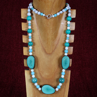 Turquoise Seeds Necklace.