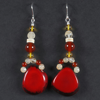 Colourful Reds Earrings.