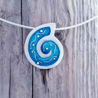 Ammonite Wave Pendant