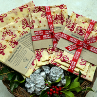 Christmas Beeswax Food Wraps. Gift Pack of 3.Reusable. Postage Free UK