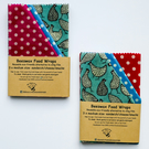 "Three 13"" x 12"" Reusable Beeswax Food Wraps. Hen design. Postage Free"