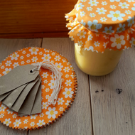 12 x Cotton Jam Jar Covers