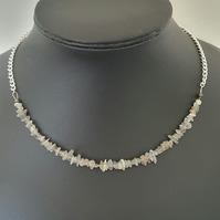 Labradorite nugget adjustable necklace