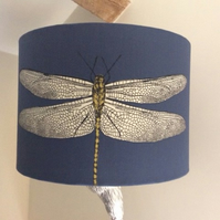 blue dragonfly lampshade