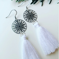 Snowflake Tassel Earrings