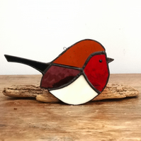 Stained Glass Robin Suncatcher Decoration