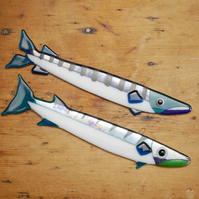 Barracuda Fused Glass Fish Themed Wall Decoration