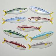 Colourful Little Fused Glass Fish Ornaments - French Discos