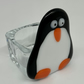 Penguin Hand fused Glass Tea Light holder. (With tea light)