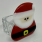 Santa Hand fused Glass Tea Light holder. (With tea light)