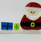 Santa Hand fused Glass Standing decoration