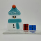 Snowman Hand fused Glass Standing decoration