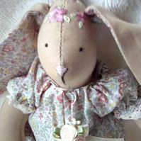 Handmade & embroidered lavender scented fabric bunny