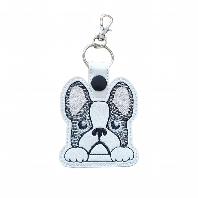 Cute French Bulldog Keyring